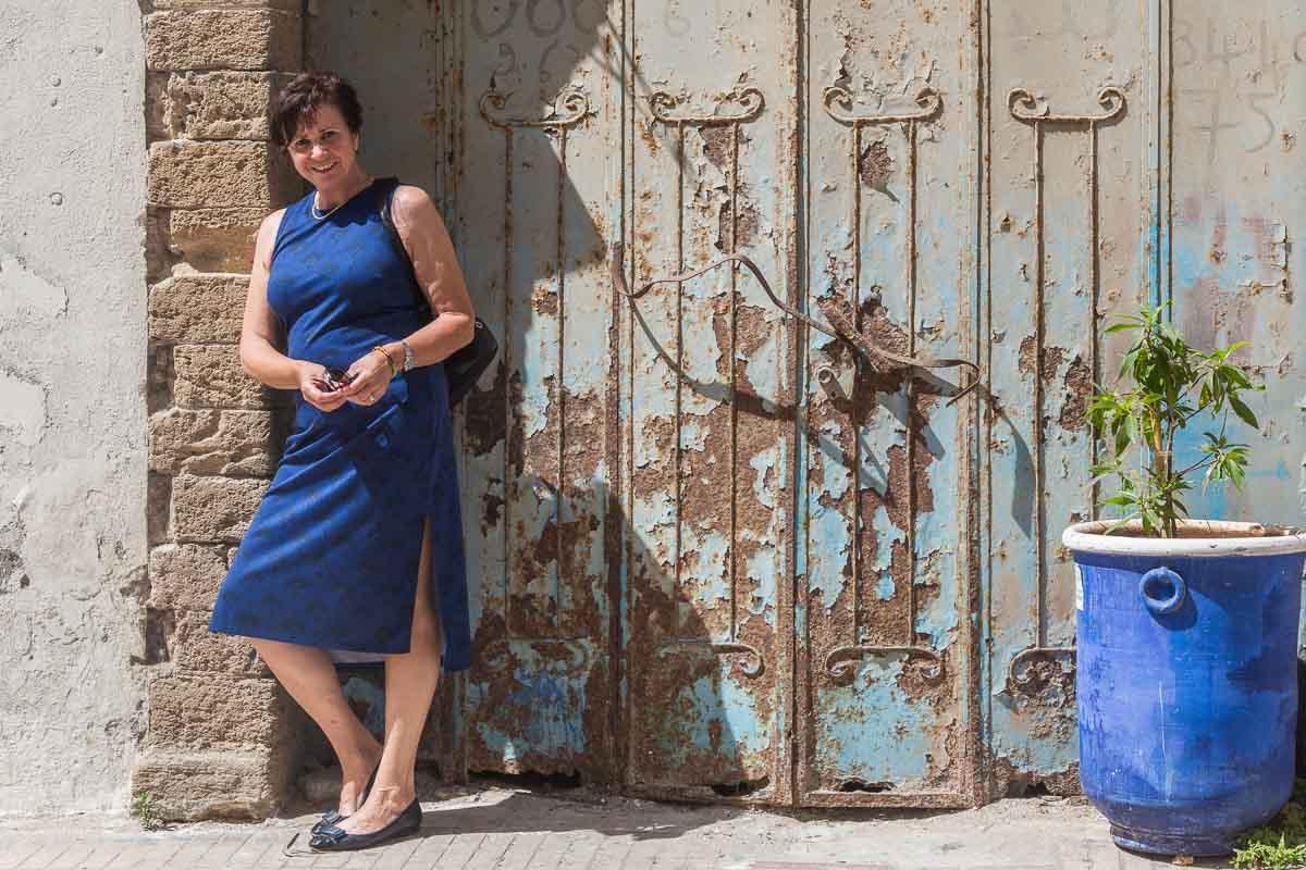 Und heute das blaue Kleid