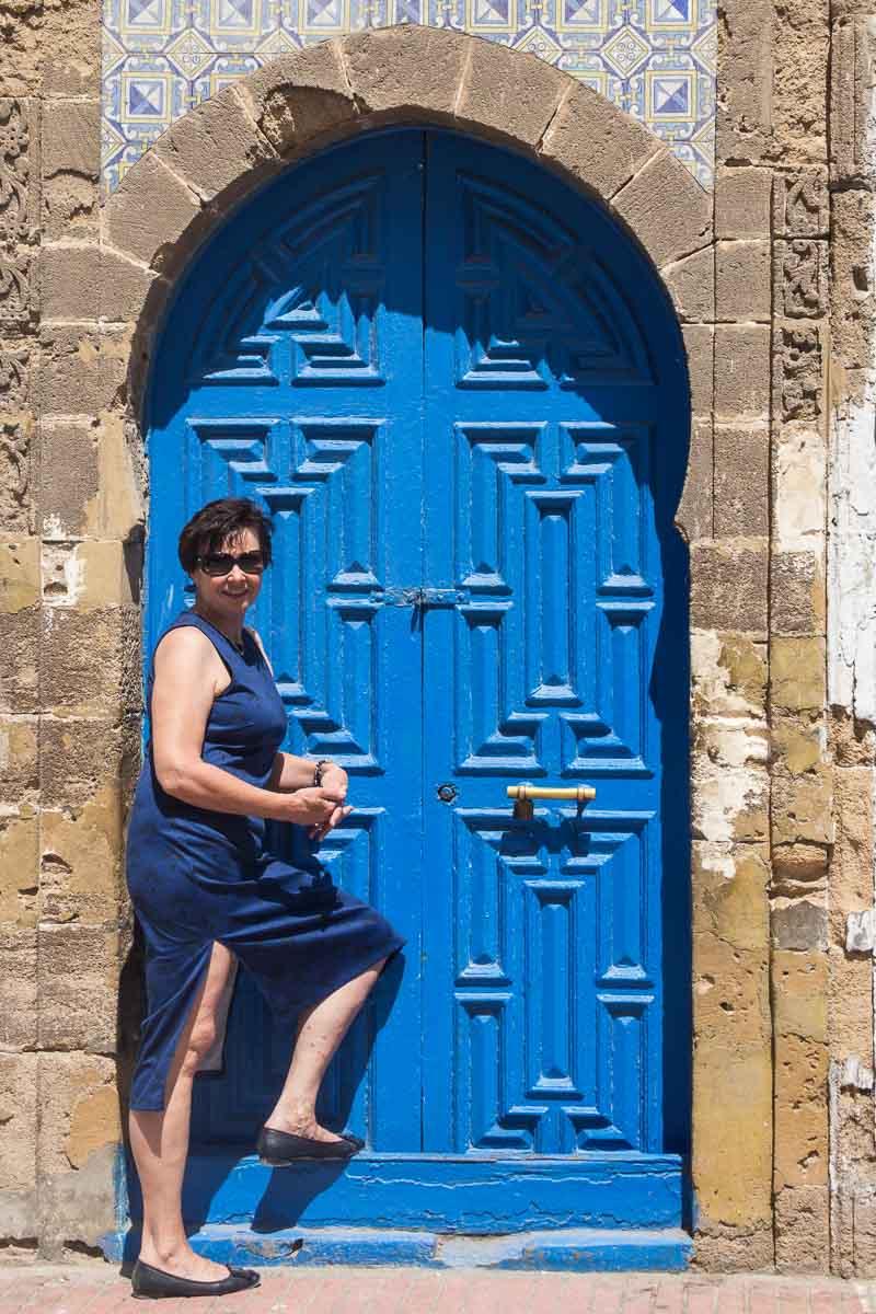 Das zur Tür passende Kleid ...