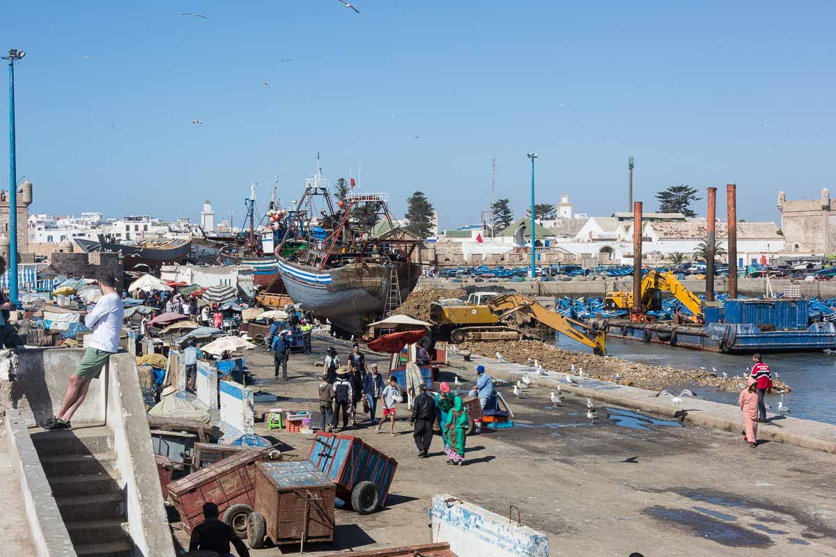 Fischmarkt - Bootswerft - Hafen - und viel Gewusel
